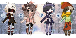 GILLBEAR+ALI COLLAB ADOPTS - BUNDLED UP - CLOSED by alpacasovereign