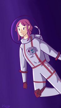 Space girl by Aluckycloud