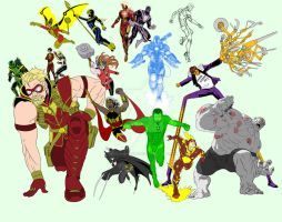 Alll New 52 Amalgam Now Judgement Avengers League  by Needham-Comics