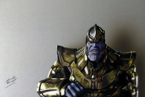 Drawing Thanos by marcellobarenghi