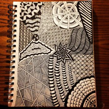 Yet Another Zentangle by Polylibri