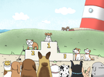The Dog Race Podium by JaffaCakeLover