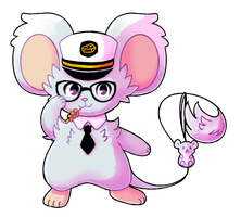 nerdy mouse by leaffkun