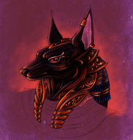 Anubis Egyptian God by MysteryOne617