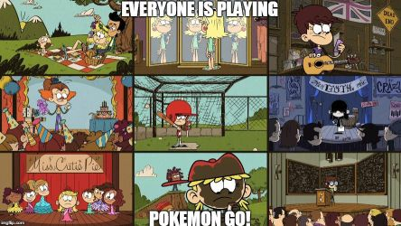 Everyone Plays Pokemon Go by funnytime77