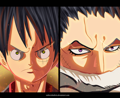 Luffy VS Katakuri by xSilverXBulletx