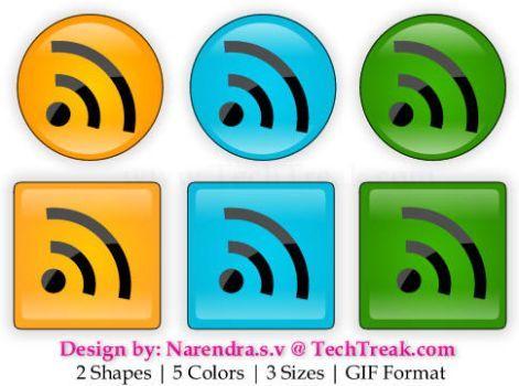 Free Web 2.0 Rss Buttons by narendrasv