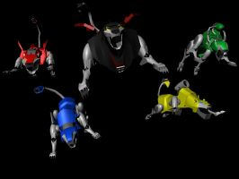 Voltron Force - 3D render test by W-Double