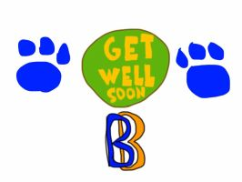 Get well soon card by BenBandicoot