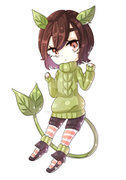 Chibis - Plant girl by MadamMeatball