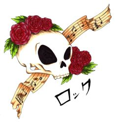 Skulls and Roses Rock by mrinx