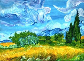 mimesis of mimesis of gogh by ceccon