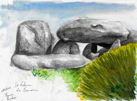 Aquarelle Carnac #2 by TAHR-Thomas-Radas