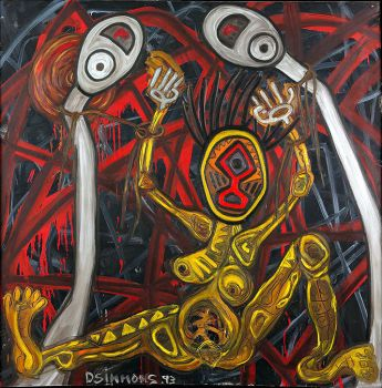 Danny Simmons - Tied to the Whipping Post by QCC-Art