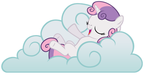Sweetie Belle on a Cloud Vector by ikillyou121