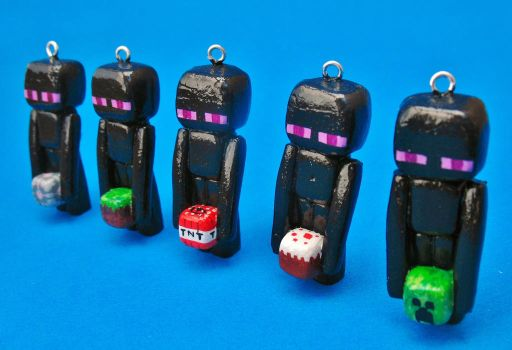 Enderman Charms by zynwolf