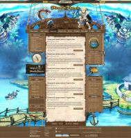Site for MMO game ''Tales of Pirate'' by DattaDesign