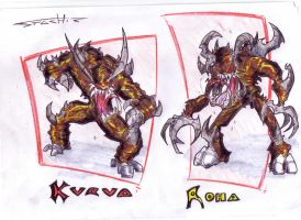 comic characters: Kurua Roha by Stachir