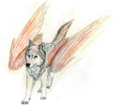 Winged Wolf by WingedWolfPsion