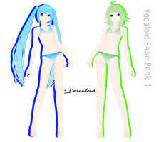 [MMD] VOCALOID BASES PACK 1 + DL by sailorconfessions