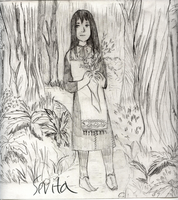 Charlotte in the forest (Sketch) by boniae