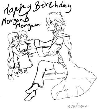 Happy birthday morgan and morganna band w by IjiRyushippo