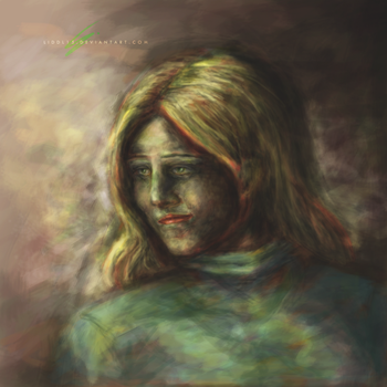 That green yellow girl... by Liddl15