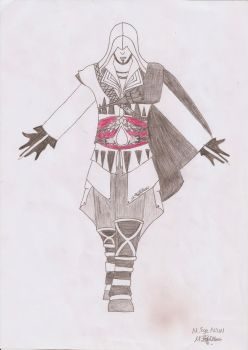 Charcoal Assassins Creed Ezio by MEAltair
