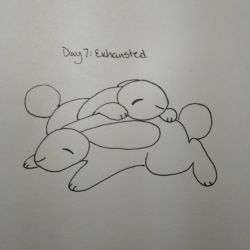 Inktober Day 7: Exhausted by ChrispyCookie