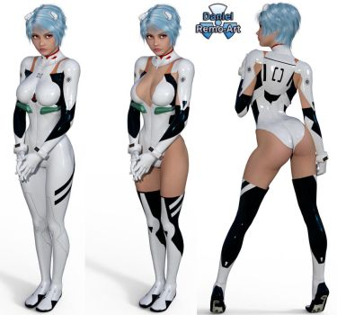 Iray - Anime Heroines - Rei Ayanami - Evangelion by Daniel-Remo-Art