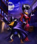 Darkwing and Morgana by gbrsou