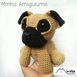 Pug Dog Amigurumi by MirthaAmigurumis