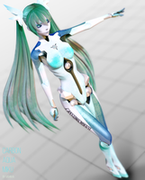 MMD model - Kuroyu Carbon Aqua Miku [DOWNLOAD] by CherryRoseC