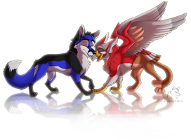 Frostee and Kazul by WindWo1f