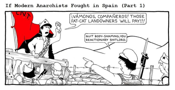 If Modern Anarchists Fought in Spain (Part 1) by RednBlackSalamander