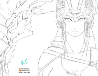 Skyrim: Dragonborn (Pencil Preview) by KumoISAMASHII