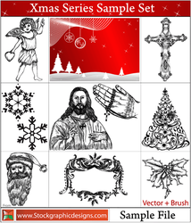 Christmas Vector Pack Free Sample by Stockgraphicdesigns