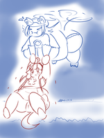 You'll Believe Fat Can Fly[bonus doodle] by Jyles-Jin