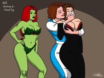 2 Birds 1 Poison Ivy (3) [Commission] by Kaywest