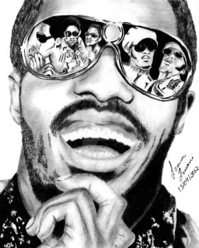 Stevie Wonder by lohziviani