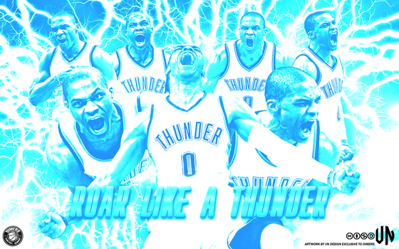 Russell Westbrook Roar Like A Thunder Wallpaper by vndesign