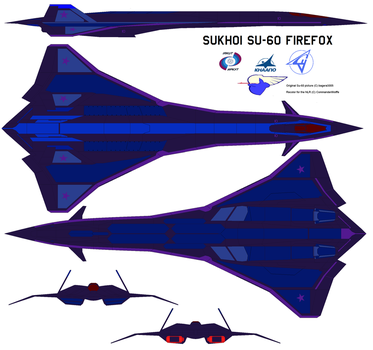 NLR Su-60 Firefox Supersonic Fighter-Bomber by CommanderWolffe