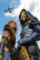 Aela and the Dovahkiin by Arlek1Creations