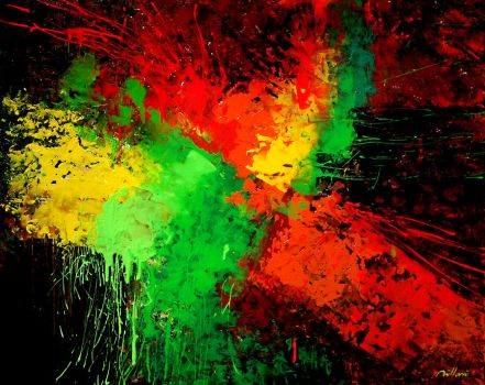 Abstract  acrylic painting on canvas by fabianoMillani