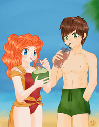 Vacation [Mericcup Month: Day 11] by JHEKSan2
