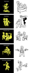 Fallout 3 - vaultboy illustration remakes. by Pa-Go