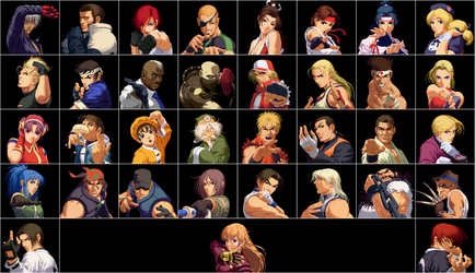 KOF 2000 Cast by topdog4815