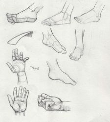 Hands and feets by Mavinci