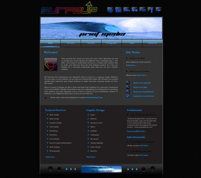 Surfzup 1st Website by SURFZUP