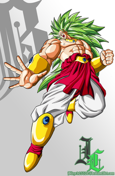 Commission: LSSJ3 Broly by JamalC157